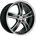 ANTERA 381 9,5x20 5x114,3 ET40 75,1 Diamond Black Front and Lip Polished