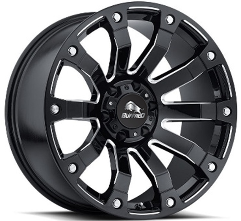 Легковой диск Buffalo BW-707 9x20 6x135 ET-12 106,3 Gloss Black Milled Spoke